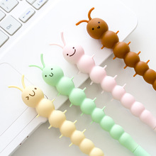 4 pcs Cartoon gel pen Cute insect caterpillar Black color pens 0.5mm Stationery Office School supplies Canetas escolar FB740