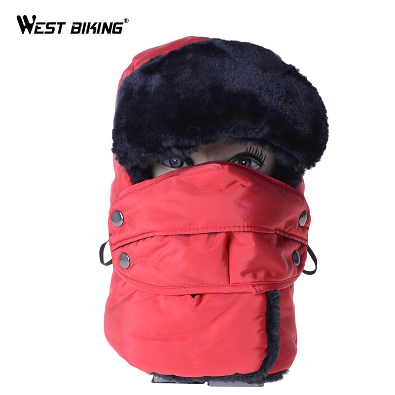 WEST BIKING Cycling Cap Winter Thermal Warm Waterproof Ski Mask Hat Windproof Balaclava Bandana Unisex Sport Outdoor Bicycle Cap jaisati winter outdoor riding windproof cap fleece hood cs hat mask thick warm snow cap dust mask