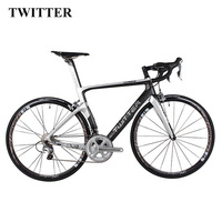 2018 NEW TWITTER Light 700C Full Complete carbon road Bicycle carbon road Bike complete 22 Speed V Brake XXS XS S M L