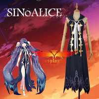 Mobile Game SINoALICE The Little Mermaid Cosplay Costume Sexy Sleeveless Dress Skirt Clothing with One Leglet W1212