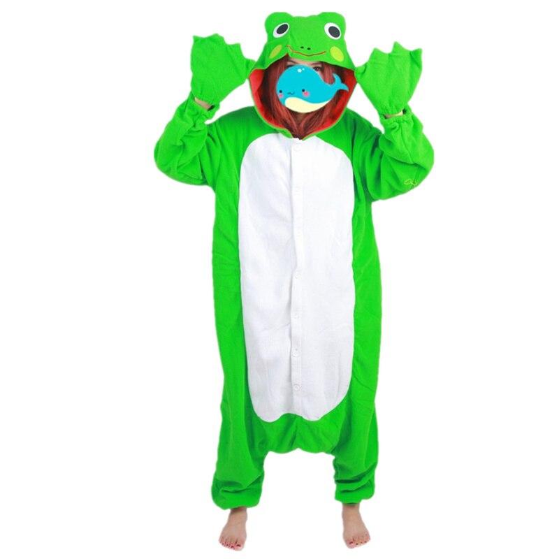 doubchow adults women green frog cartoon costume pajama halloween christmas onesies unisex teenagers famous cartoon lounge wear