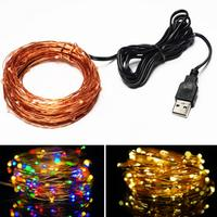 10 M USB LED Energy Saving Wedding Festival Christmas Halloween Decoration Outdoor Waterproof Light Post Light