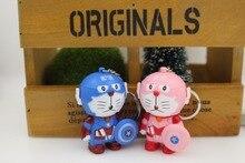 New Doraemon Figure Cartoon Movie Captain America Sheild Keychain Light up Sound Novelty font b Toys