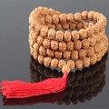 Ubeauty лучшие пять Pu Тизи бисер браслет 8 мм природные Rudraksha джапа четки Мала молитва браслет коллекции Бутик