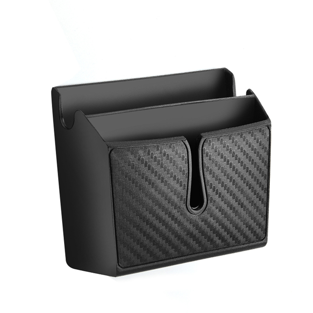 Black Multifunctional PVC Vehicle Storage Box Cellphone Holder Car Stowing Tidying Multi-use Tools organizer Boxes Car Styling