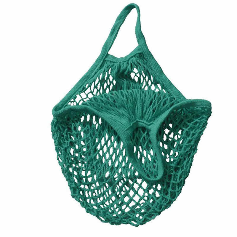 Mesh Net Turtle Bag String Shopping Bag Reusable Fruit Storage Handbag Totes New Fashion with High Quality Free Shipping M5