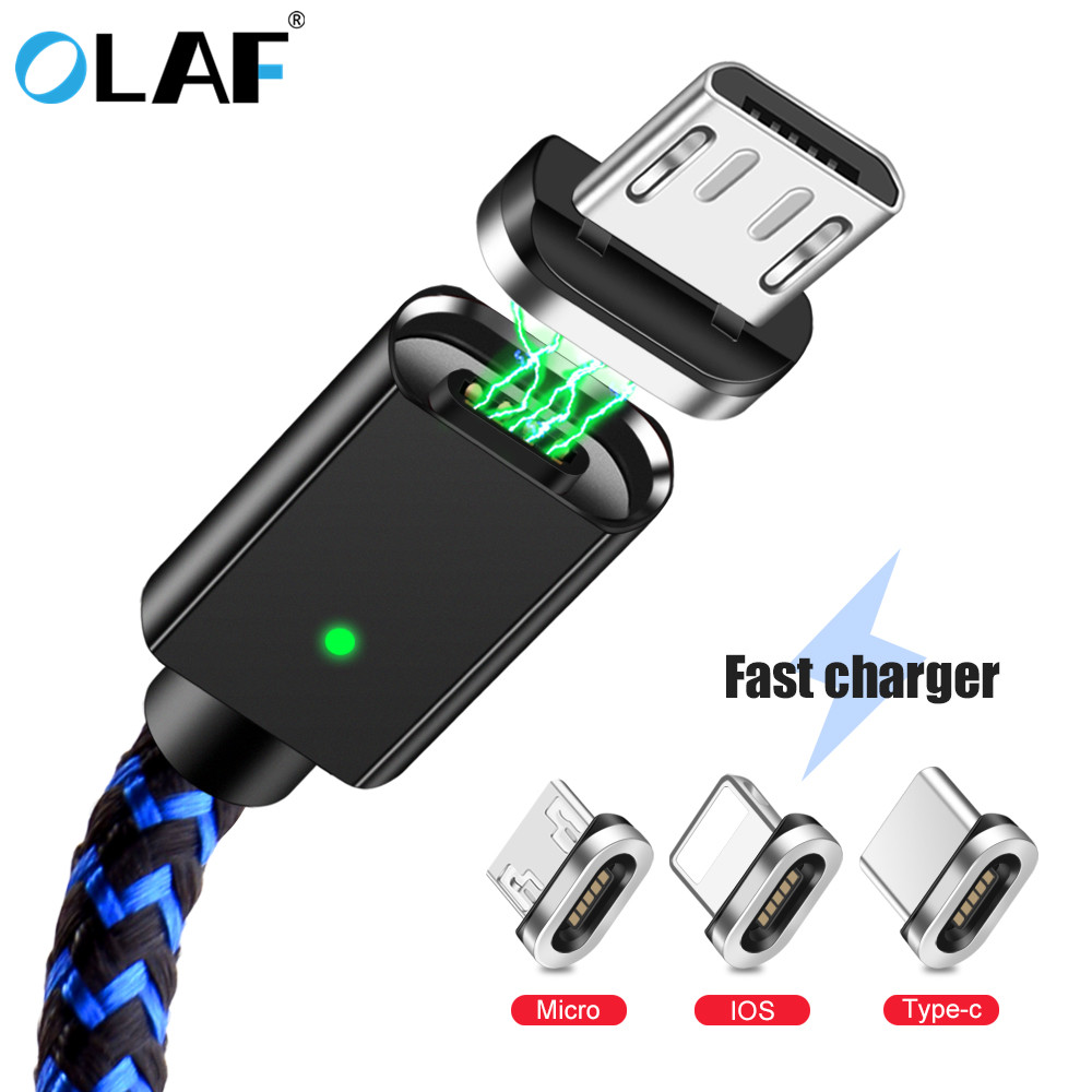 Cellphones & Telecommunications Mobile Phone Accessories Olaf Led Magnetic Cable Micro Usb Type C Fast Charge Magnet Charging Usb Cable For Iphone X Xs Max Samsung Mobile Phone Cables