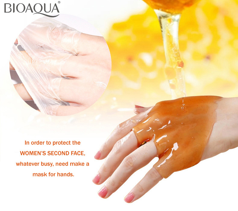 BIOAQUA Mliječni med Hidratantni ručni vosak Parafinska krema za - Briga o koži - Foto 5