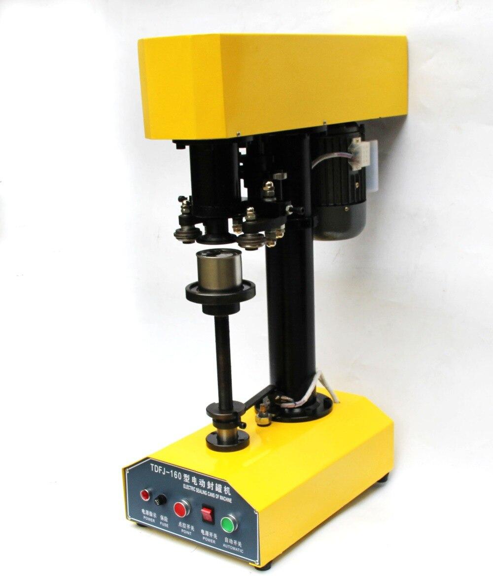 Machine semi automatique de scelleur de bidon d'acier inoxydable, machine manuelle de cachetage de boîte