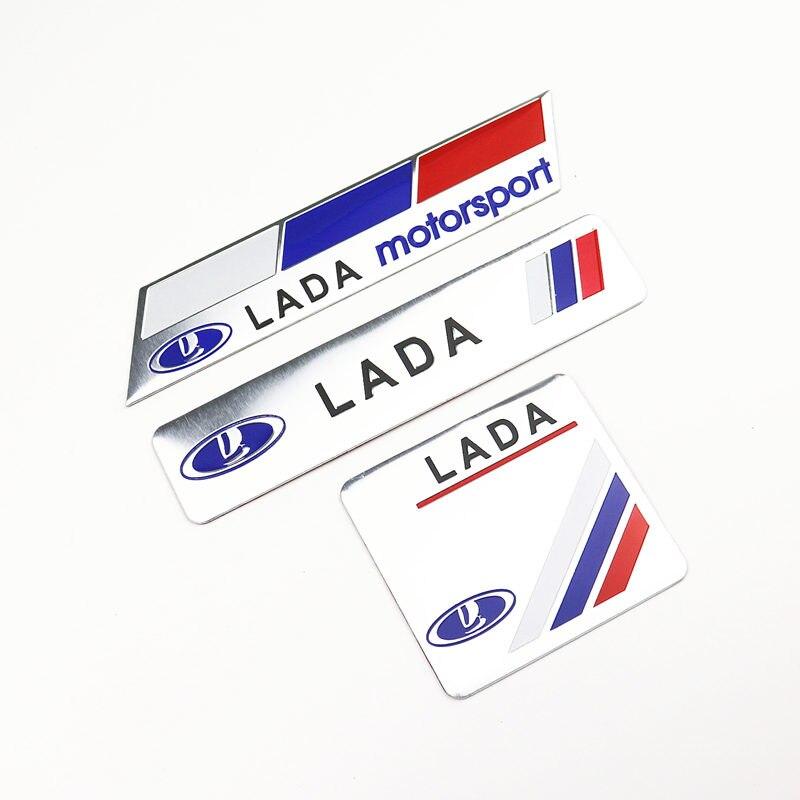 Car Decoration Stickers Logo 3D Aluminium Emblem Badge Decal For Lada Kalina Granta Priora Lada Niva Largus Samara  Car-Styling