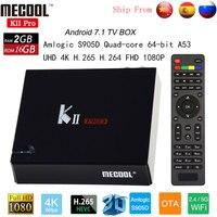 MECOOL Кии PRO ТВ коробка DVB S2 DVB T2 DVB C Android 7,1 Amlogic S905D 4 К BT4.0 Декодер каналов кабельного телевидения Поддержка 2,4 г/5 г WI FI CCCAM IP ТВ