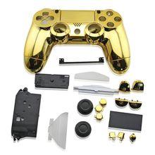 PS4 تحكم تصفيح كروم غطاء الإسكان شل لسوني PS4 DualShock 4 غمبد الخارجي تغطي استبدال V1 الإصدار