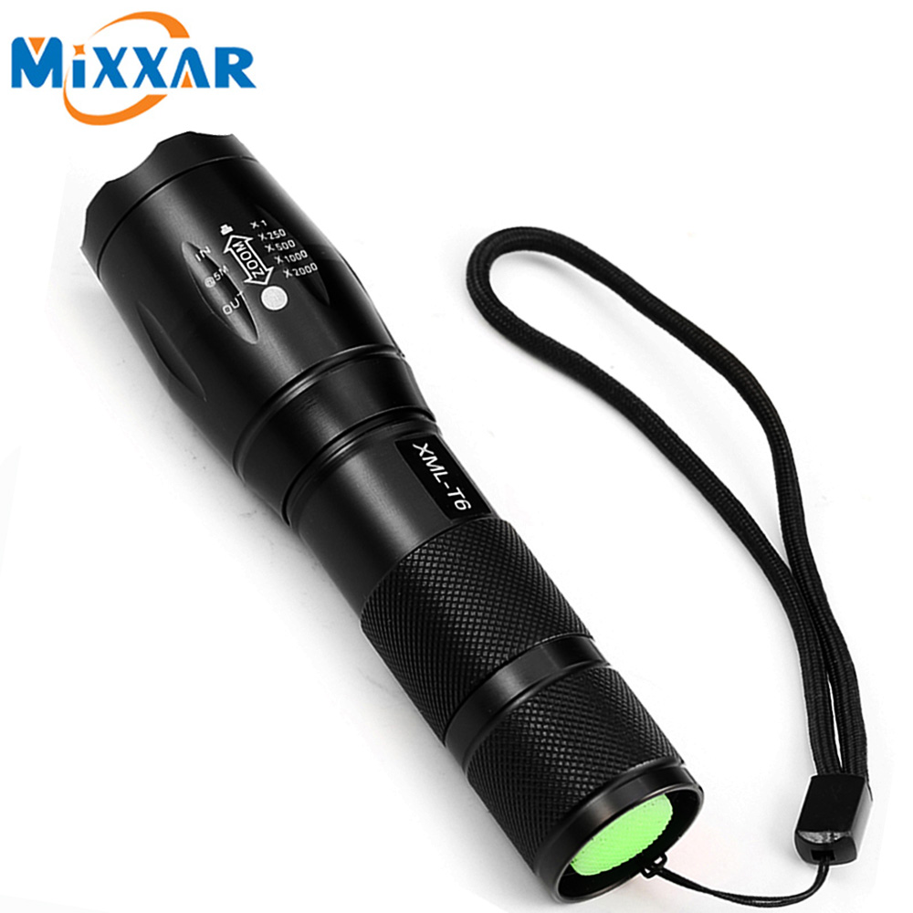 ZK50 E17 CREE XML-T6 4000LM LED Torch 5 Mode Zoomable LED Flashlight Torch light For 3xAAA or 1x18650 Battery zk20 cree xml t6 4000 lumens flashlight led torch 5 mode zoomable led flashlight bike bicycle light by 1 18650 or 3 aaa battery