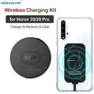 Комплект беспроводной зарядки Nillkin для huawei Honor 20 Qi Беспроводное зарядное устройство + адаптер приемника usb type C + ТПУ чехол для Honor20 Pro