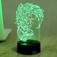 7 Color Seven Dragon Ball Lamp 3D Visual Led Night Lights For Kids Touch USB Table