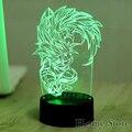 7 Lâmpada de Cor Sete Dragon Ball 3D Visual Led Night luzes para Crianças Mesa de Toque USB Lampe Lampara de Dormir Do Bebê Nightlight