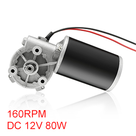 Uxcell(R) Hot Sale 1Pcs High Torque DC 12V 160RPM Reversible Electric Gear Motor 80W 3N.M -JCF63R image