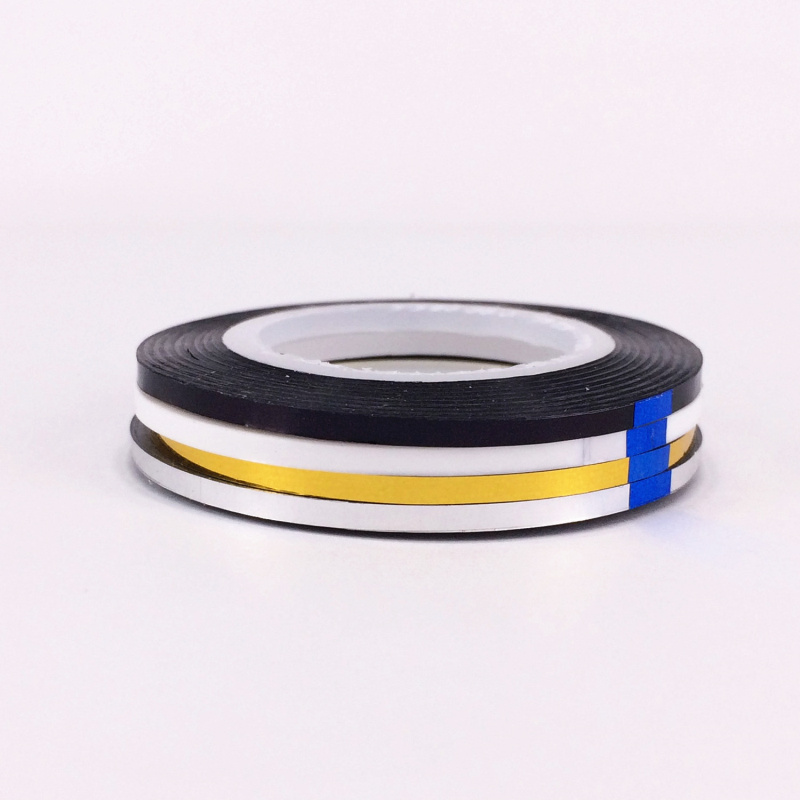 Image 2 - LCJ New Arrive 2mm 4 Colors Popular Nail Striping Tape Line For Nails Decorations Diy Nail Art Self Adhesive Decal Tools-in Stickers & Decals from Beauty & Health
