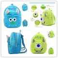 Kawaii Children Plush Backpack Blue Monster Cartoon Plush Backpack Baby Rucksack for Kindergarten Kids Baby Backpacks