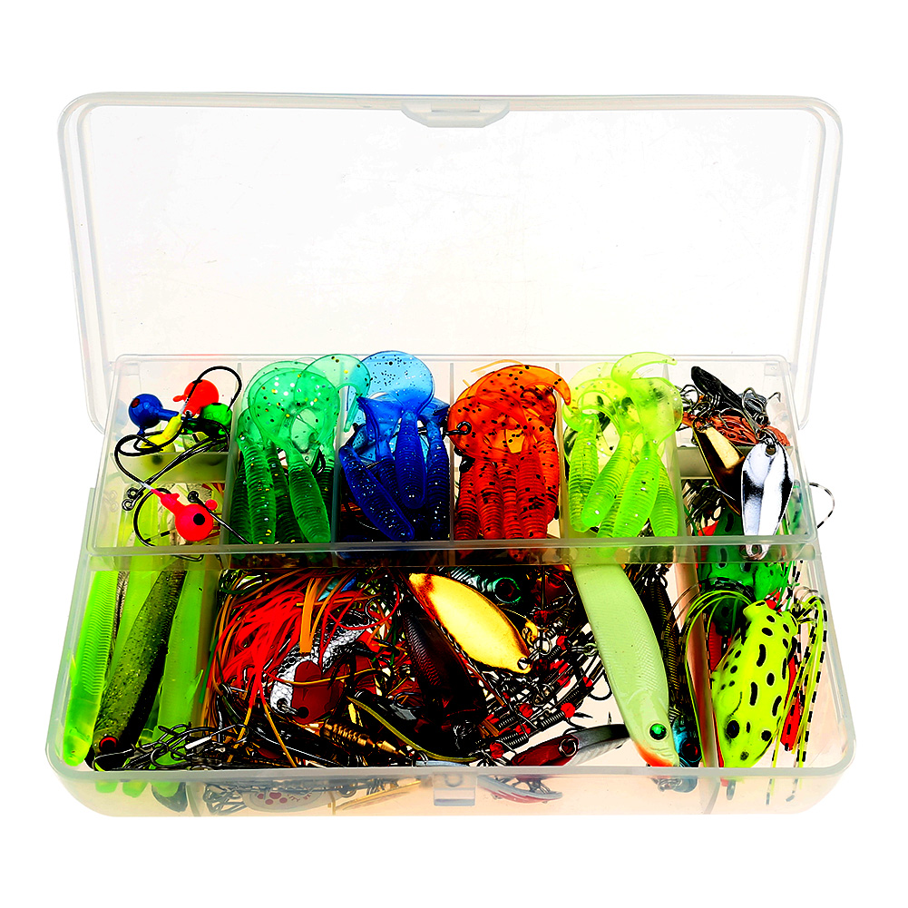 Artificial Fishing Lure Kit 102pcs Cebo Minnow/Popper Spinner Spoon Lure With Hook Isca Bait Fish Lure Set Pesca 10pcs 7 5cm soft lure silicone tiddler bait fluke fish fishing saltwater minnow spoon jigs fishing hooks