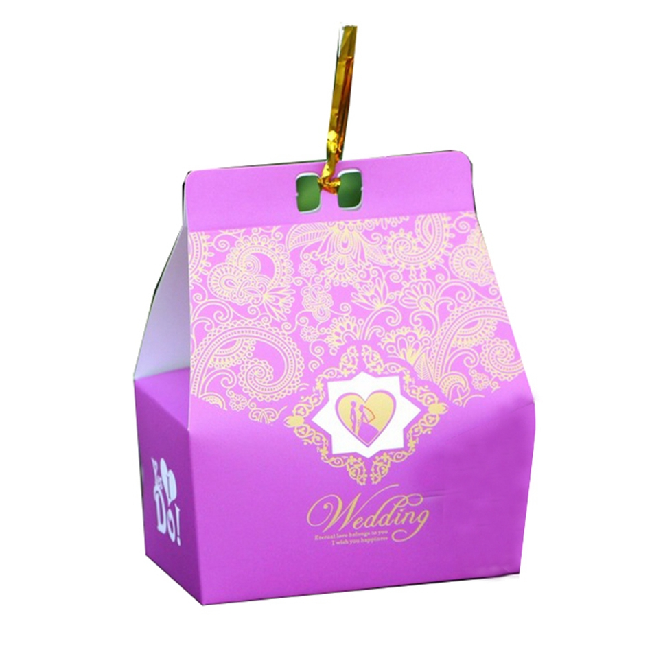Cheap DIY Purple Damask Wedding Favor Boxes Indian Wedding Party ...