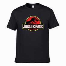 NEW Cool 15 colors JURASSIC PARK Print Men T Shirt 100% cotton Casual Funny T Shirt cozy Tops Jurassic World Tees Short Sleeve(China)