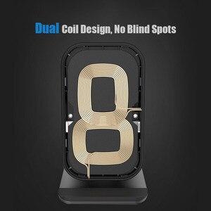 Image 3 - Bezprzewodowa ładowarka Qi stojak 10W szybkie ładowanie bezprzewodowa ładowarka do telefonu indukcja dla iPhone XS Max XR X 8 Samsung S8 S9 Plus