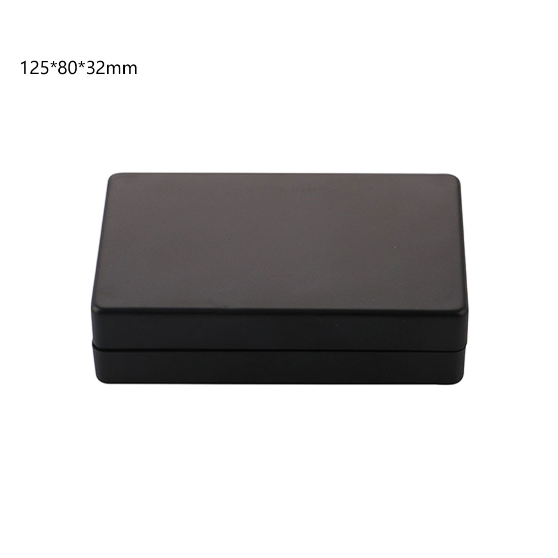 Black 125x80x32mm Waterproof Box Electronic Project Instrument Case Connector