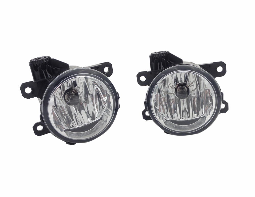 2 Pcs/Pair Clear lens Front bumper fog lamps fog lights with bulbs RH and LH For Ford Edge 2015-2017 1pair rh lh side front bumper fog lamps lights with bulbs for mazda 5 2006 2010