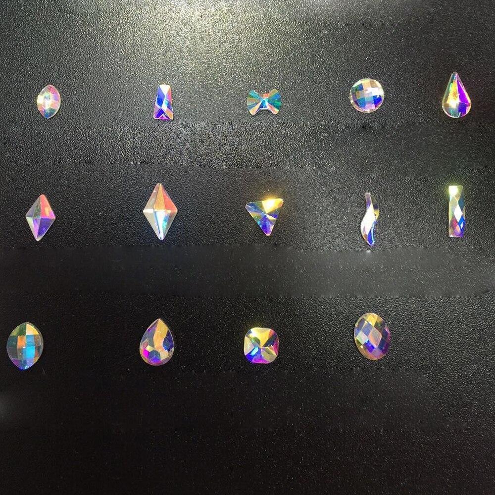 YANRUO Mix Crystal AB Glitter Crystal 3d DIY Nail Art Flat Back - Arte de uñas - foto 3