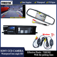 FUWAYDA wirelss SONY CCD Chip Car Rear View Reverse Mirror Monitor CAMERA forTOYOTA RAV4 2006 2010, 2012 year with parking lines