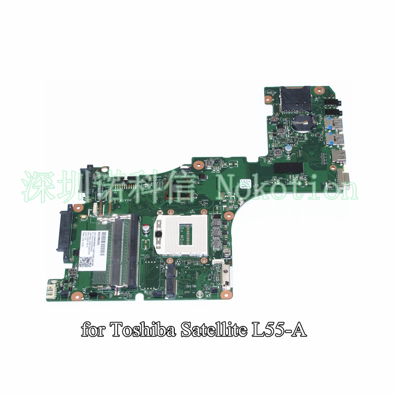 NOKOTION SPS V000318010 Mainboard for toshiba satellite L55 L55-A laptop motherboard CR10S-6050A2555901-MB-A02 free shipping v000318010 for toshiba satellite l50 a l55 a l50t a l55t a laptop motherboard all functions 100% fully tested