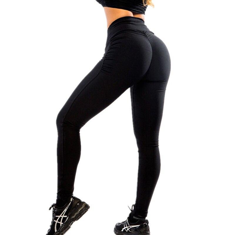 Mujeres de alta cintura Push Up Leggings entrenamiento Legging Femme respirable Bodybuilding Polyester ropa Casual Pantalones