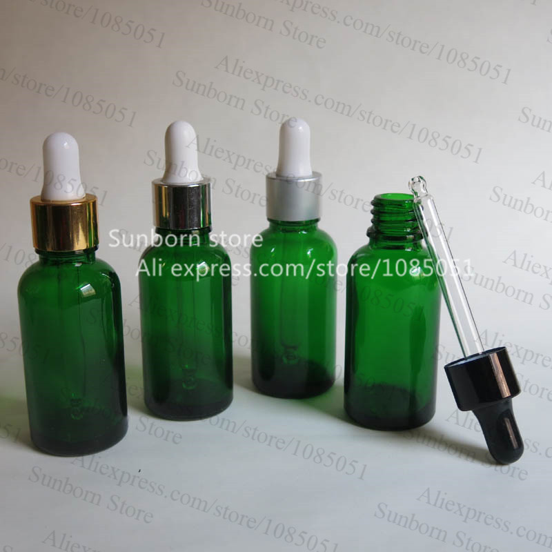 43d6cb703 10x1 oz الأخضر زجاج زجاجة بالقطارة ، 30 ملليلتر زجاجة خضراء ، 1 أوقية  الأخضر essetial النفط زجاجة