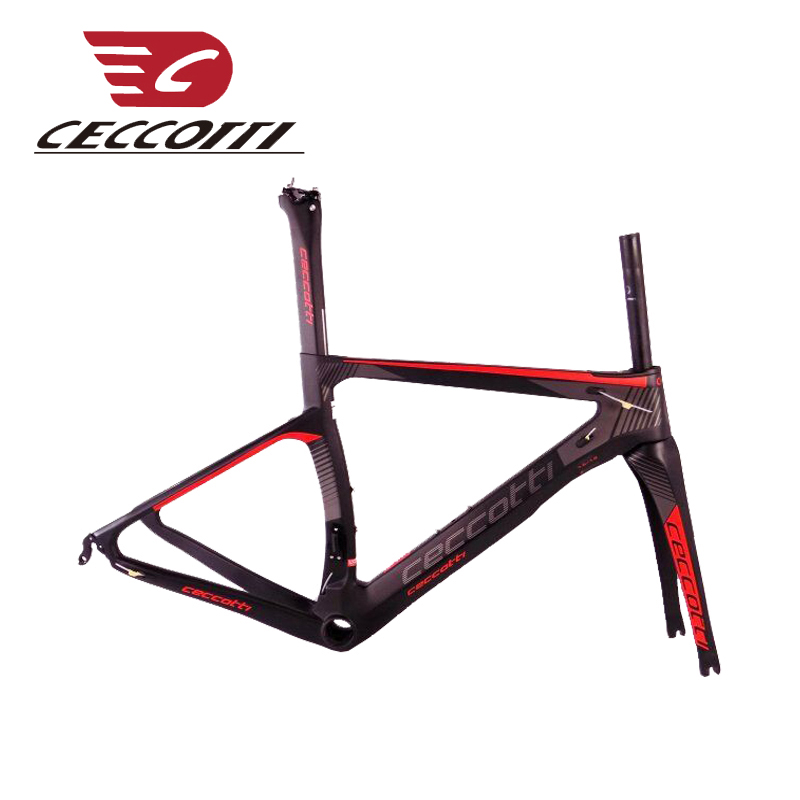 Carbon Road Frame T1000 Bicycle Frame UD/3K 1k Ceccotti Chinese Cheap Racing Bike Frameset