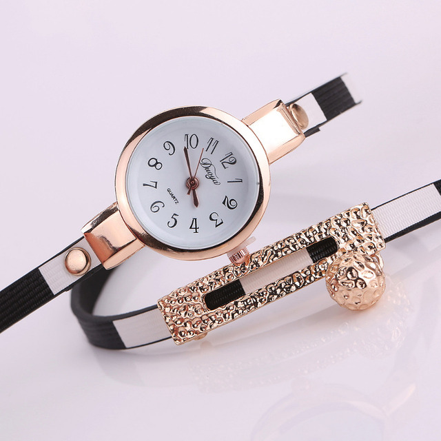 CLAUDIA New Fashion Women Watch PU Leather Bracelet Watch Casual Wristwatch Luxury Brand Quartz Watch Relogio Feminino kol saati