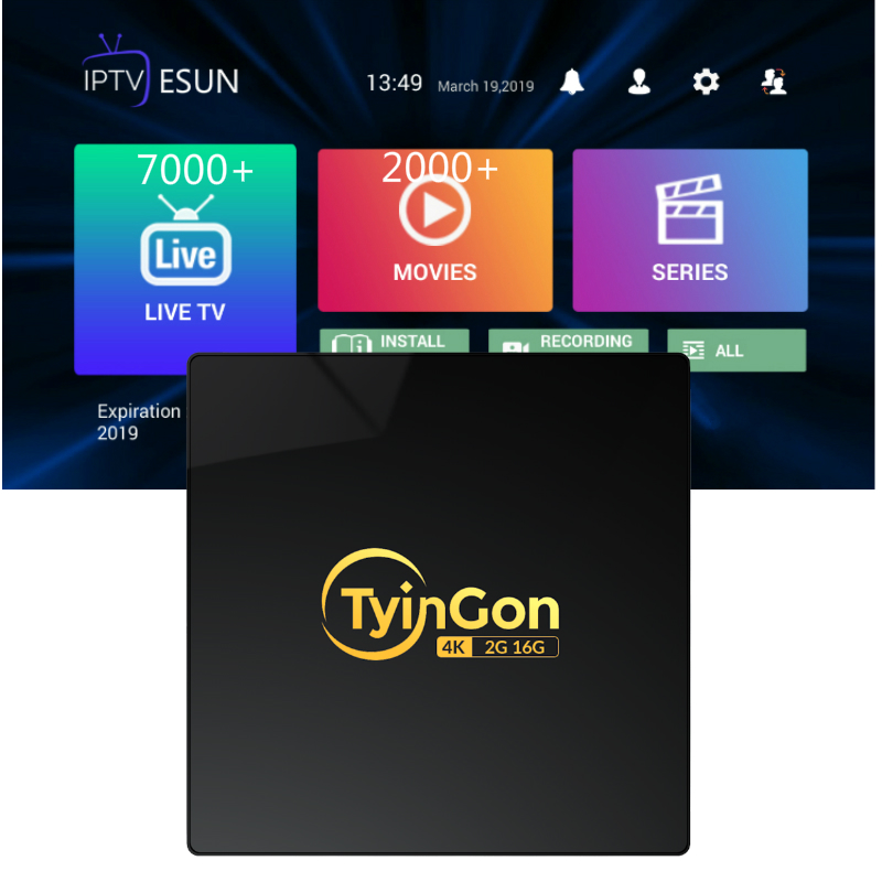 TyinGon 2019 Android tv box 2G16G/4g32g 4K H.265 Smart tv box Set-top box With 1 Year iptv Summer Time Buy Now Get 1 year gift image