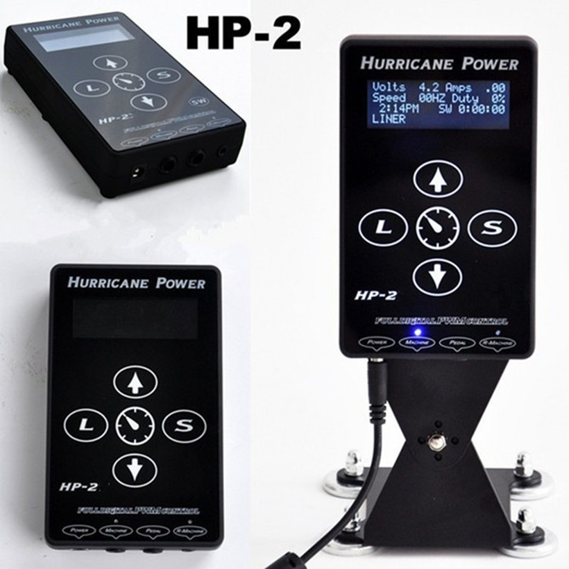 Enhanced Edition Tattoo Power Supply Hurricane HP-2 Power Supply Tattoo Digital Dual Power Supply Black Tattoo power Unit стойка для акустики waterfall подставка под акустику shelf stands hurricane black