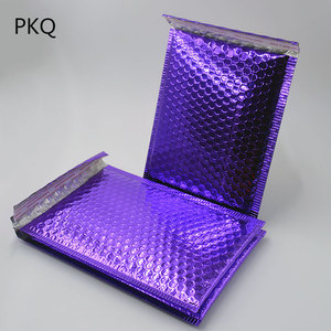 Image 2 - 20pcs 2 Size Bright Purple Poly Bubble Mailing Mailer Shipping Padded Envelope Bags Black Color Shockproof Courier Bubble mailer