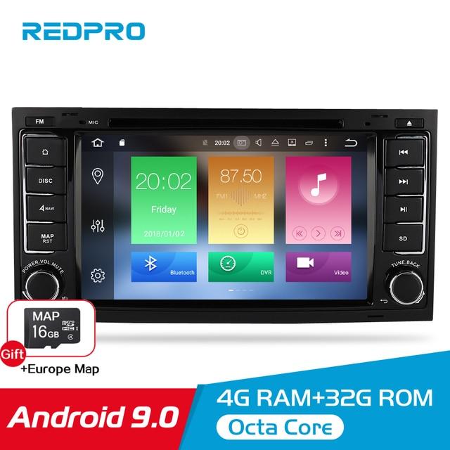 Octa Core Android 9.0 Vídeo Do Carro DVD Player Para Volkswagen Touareg/T5 2004 2011 Rádio FM GPS navegação Multimedia Stereo 4G RAM