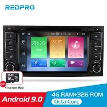 Octa   Core Android 9.0 เครื่องเล่นวิดีโอดีวีดีสำหรับ Volkswagen Touareg/T5 2004 2011 วิทยุ FM GPS ระบบนำทางมัลติมีเดียสเตอริโอ 4G RAM