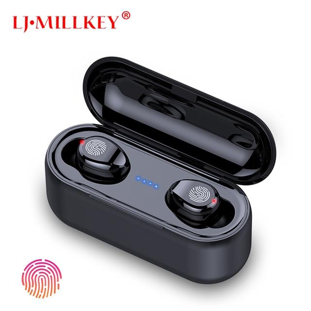 2019 Newest Bluetooth Earphones TWS headset earbuds Handsfree Stereo Bass BT 5.0 with Mic Smart AI Control LJ-MILLKEY YZ252