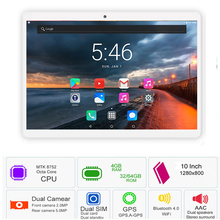 2019 Global Version Android 7.0 OS 10 inch tablet Octa Core 3G 4G FDD LTE 4GB RAM 64GB ROM 1280x800 Dual SIM Cards Tablet+Gifts
