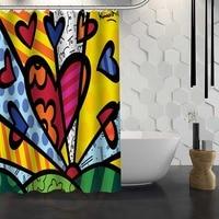 Arte Do Romero Britto Shower Curtain Pattern Customized Shower Curtain Bathroom Fabric For Bathroom Decor Hsq326027az