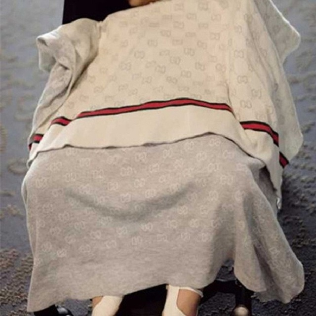 Manta de bebé Marca de Moda de Punto de Algodón ropa de Cama de ...