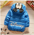 Retail 4 Color Baby Boys Girls Mickey Minnie Winter Jacket New 2015 Kids Cartoon Warm Outerwear Children Thick Coat In Stock