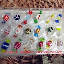 18 PCS/wedding candy packaging new antique glass Christmas tree ornaments for decorative pattern randomly