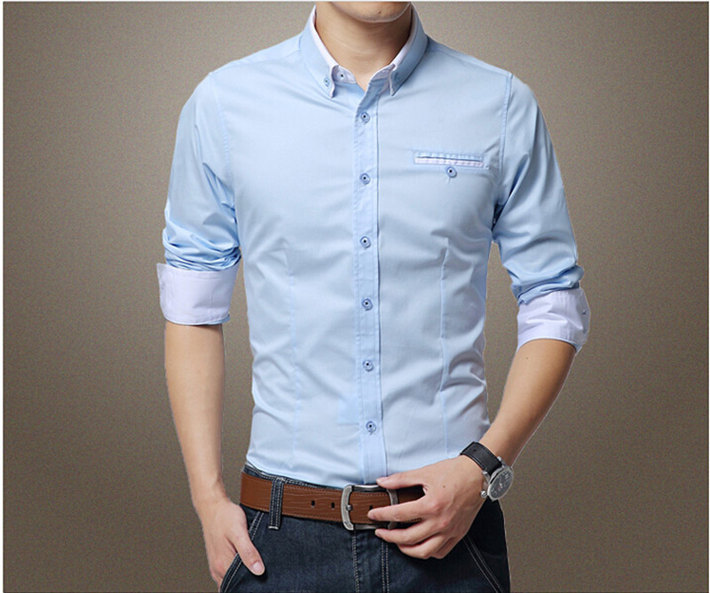 2015 business casual men shirt europe and america style for European mens dress shirts