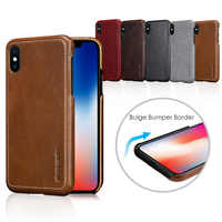 Pierre Cardin Luxury Ultra Thin Anti-knock Genuine Leather Hard Back Case Cover For Apple iPhone XS X Phone Case Free Shipping