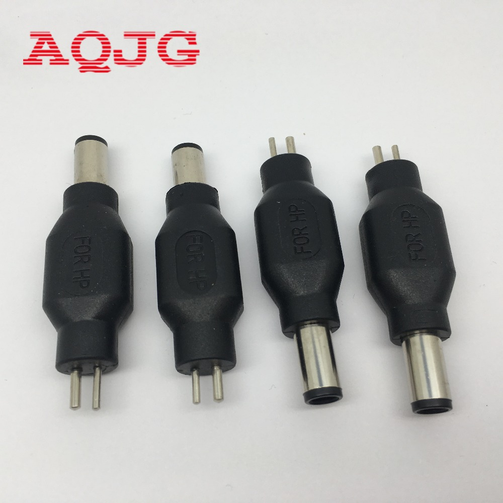 Straight New DC 7.4*5.0mm Male to 2P Female Laptop Power Adapter Connector Notebook Charger Jack ForHP Compaq Computer adapter ck 1 set 28 in 1 5 5 2 1mm new universal ac dc jack charger connector plug for laptop notebook ac dc power adapter ma 072